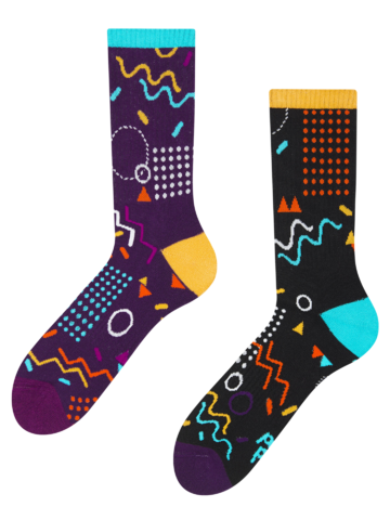 Obrázok produktu Весели спортни чорапи Ретро геометрия