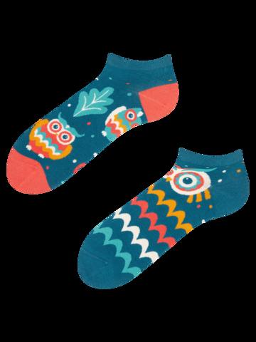pro dokonalý a originální outfit Veselé kotníkové ponožky Moudrá sova