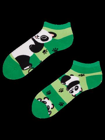 Výprodej Veselé kotníkové ponožky Pandy a pásky