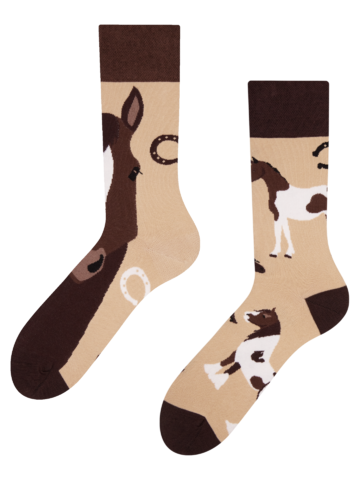 Pre dokonalý a originálny outfit Regular Socks Horses
