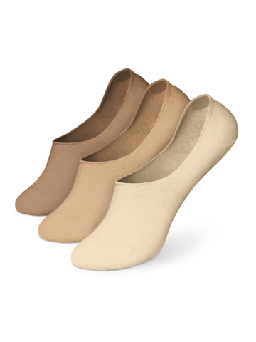 Lifestyle photo Cotton No Show Socks 3-pack Natural