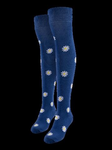 Pre dokonalý a originálny outfit Over the Knee Socks White Daisies
