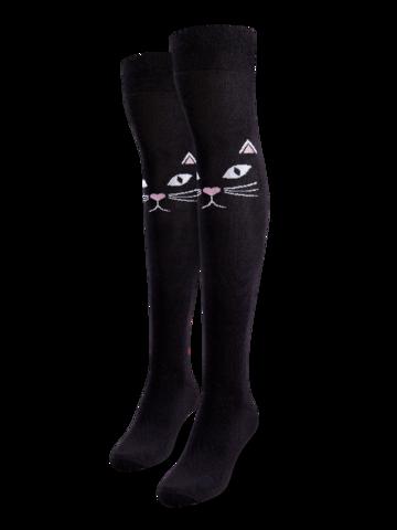 Obrázok produktu Весели чорапи над коляното Страхотна котка