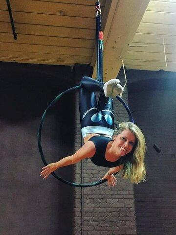 Výjimečný dárek od Dedoles Dámské sportovní elastické legíny Kočičí úsměv