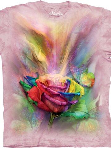 Hľadáte originálny a nezvyčajný darček? Obdarovaného zaručene prekvapí Tričko Farebná ruža