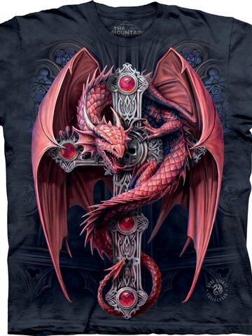 Lifestyle foto TričkoBordový drak
