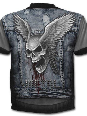 Hľadáte originálny a nezvyčajný darček? Obdarovaného zaručene prekvapí Plus Size T-shirt Denim Vest