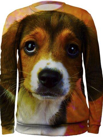 Tip na darček Otroški pulover brez kapuce Kuža Beagla
