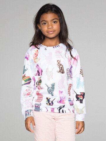 Tip na darček Otroški pulover brez kapuce Vzorčaste mačke
