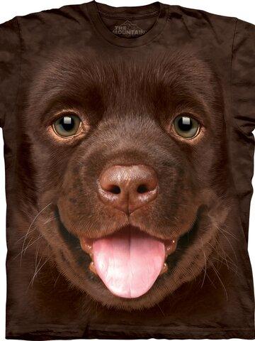 Výnimočný darček od Dedoles Hnedé detské tričko Šteniatko labradora