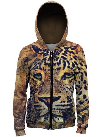 Výnimočný darček od Dedoles Jopica z zadrgo Naslikan leopard