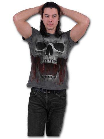 Pre dokonalý a originálny outfit Sivé tričko Výkrik smrti