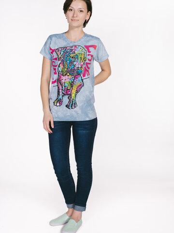 Lifestyle-Foto Damen T-Shirt Russo Welpe