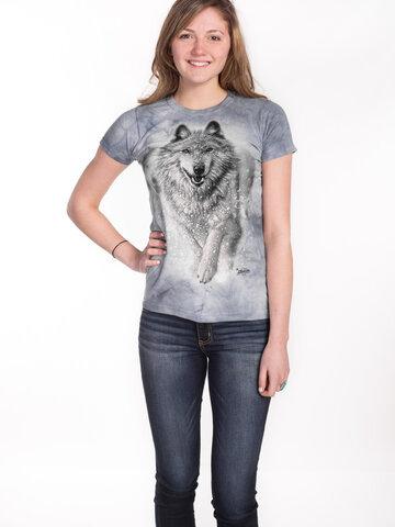 Geschenktipp Damen T-Shirt Schneewolf