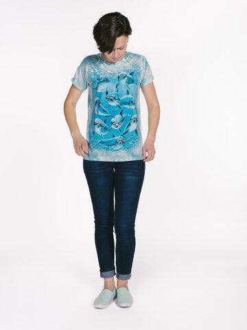 Lifestyle foto Dámske tričko Cool delfíny