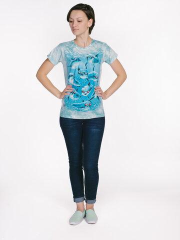 Výnimočný darček od Dedoles Dámske tričko Cool delfíny