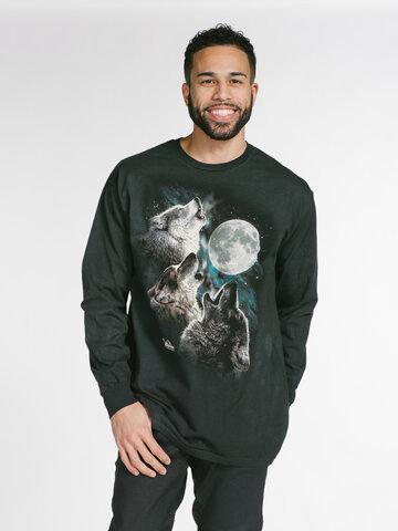 Tip na darček Dlhý rukáv Tri vlky vyjúce na mesiac