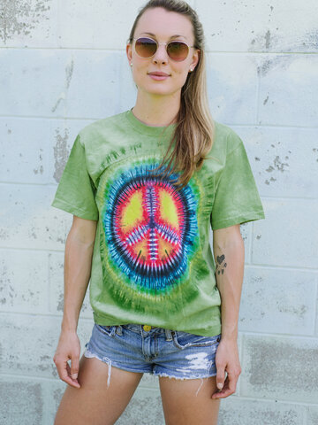 Kedvezmény Tie-Dye béke póló