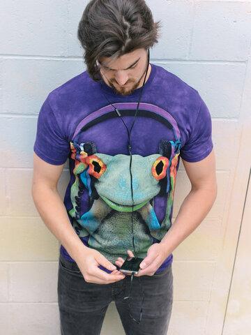 Pre dokonalý a originálny outfit Tričko žaba so slúchadlami