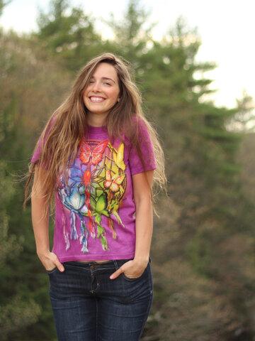 Tip na darček Tričko Dúhový lapač snov s motýlikmi