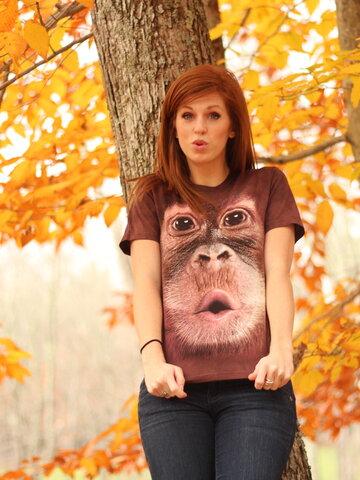 Foto Big Face Baby Orangutan Adult
