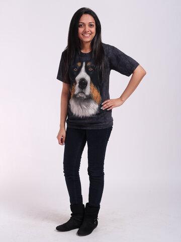 Pre dokonalý a originálny outfit Tričko Tvár bernského salašníckeho psa