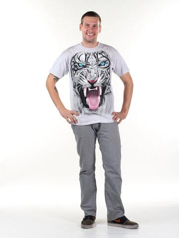 Potešte sa týmto kúskom Dedoles Tričko Tvár tigra bieleho