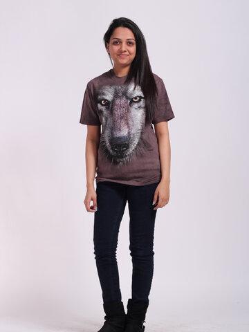 Pre dokonalý a originálny outfit T-shirt Wolf's Face
