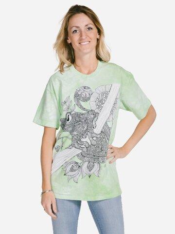 Zľava Mandala vyfarbovacie tričko Žaba