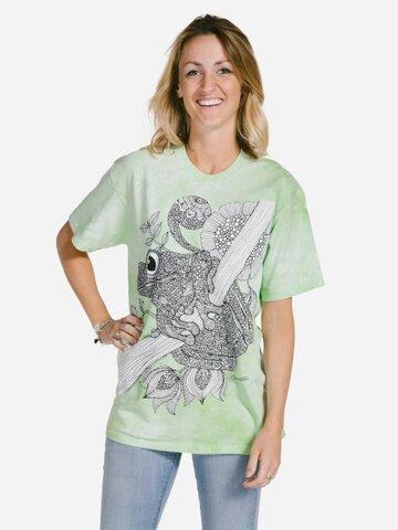 Pre dokonalý a originálny outfit Mandala vyfarbovacie tričko Žaba