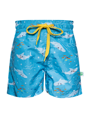 Lifestyle foto Živahne fantovske plavalne hlače Beli morski pes