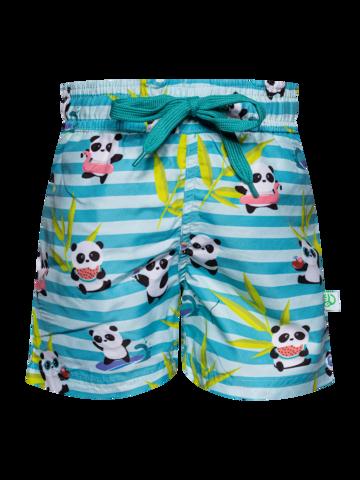 Zľava Veselé chlapčenské plavkové šortky Panda na dovolenke
