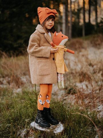 a tökéletes és egyedi ruházathoz Vidám gyerek harisnya Bozontos róka