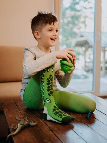 ОТСТЪПКА Весел детски чорапогащник Крокодил