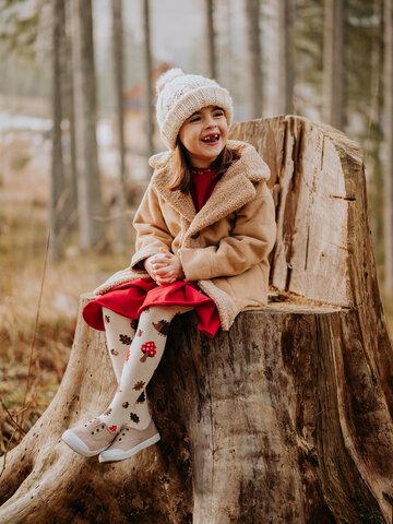 Výnimočný darček od Dedoles Veselé detské pančušky Lesný ježko