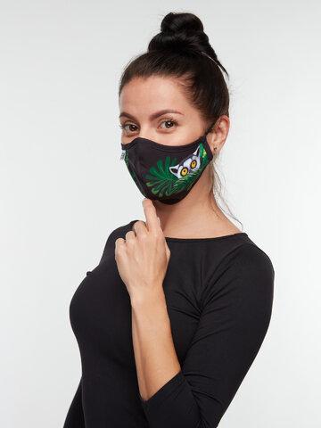 Pre dokonalý a originálny outfit Veselé antibakteriálne rúško Lemur - menšie