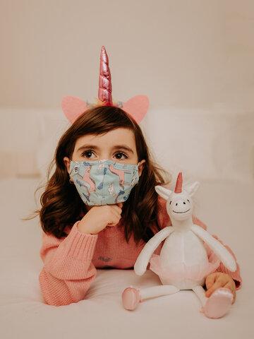 Obrázok produktu Vrolijk mondkapje voor kinderen Eenhoorn