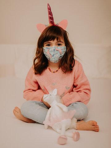 Výpredaj Vrolijk mondkapje voor kinderen Eenhoorn
