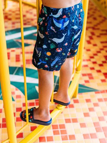 Pre dokonalý a originálny outfit Veselé chlapčenské plavkové šortky V ponorke