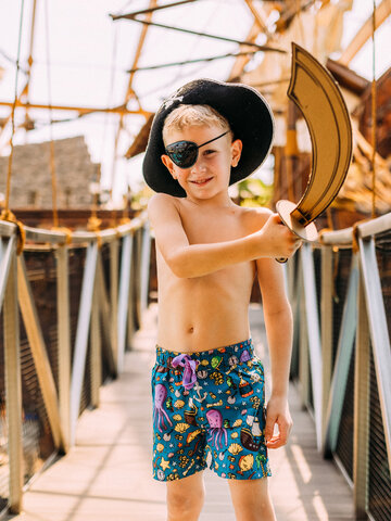 Zľava Veselé chlapčenské plavkové šortky Život piráta