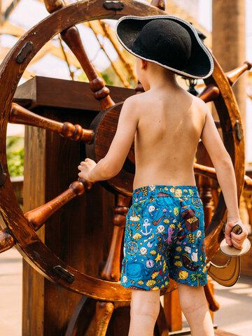 Pre dokonalý a originálny outfit Veselé chlapčenské plavkové šortky Život piráta