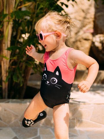 Tip na dárek Veselé dívčí plavky Černé koťátko