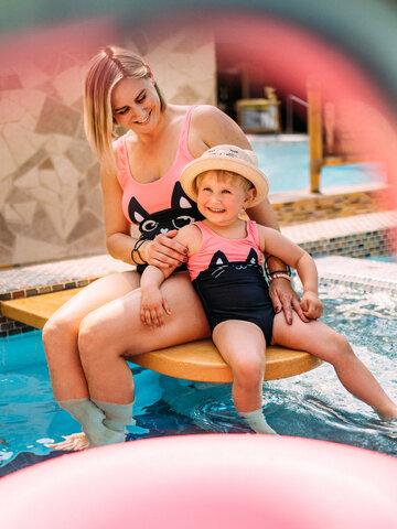 Foto Veselé dívčí plavky Černé koťátko