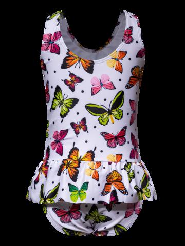 Potešte sa týmto kúskom Dedoles Girls' Swimsuit Colourful Butterflies