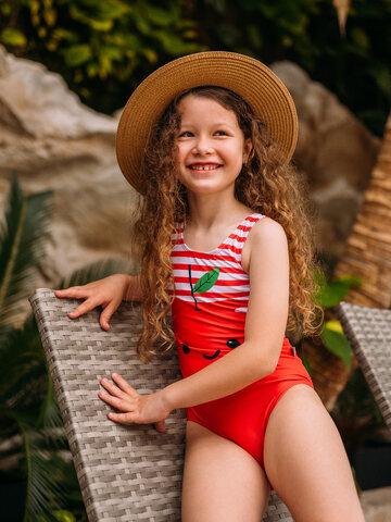 Foto Costum de baie Vesel pentru Fete Măr Fericit