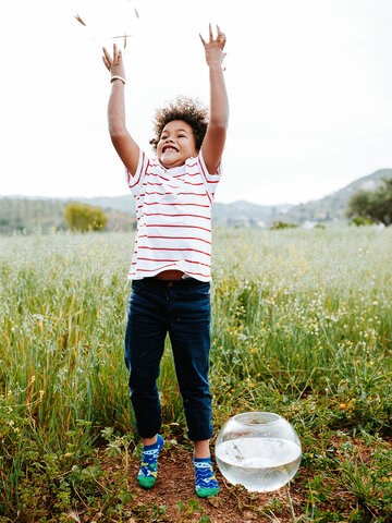 Foto Veselé dětské kotníkové ponožky Akvarijní rybičky