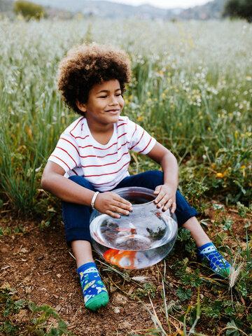 Výprodej Veselé dětské kotníkové ponožky Akvarijní rybičky