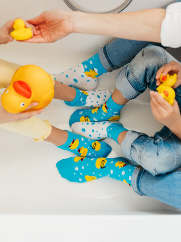 Obrázok produktu Calcetines tobilleros alegres para niños Captain Duck
