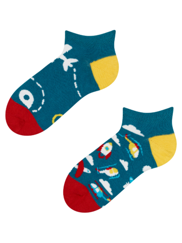 Potěšte se tímto kouskem Dedoles Veselé dětské kotníkové ponožky Letadla