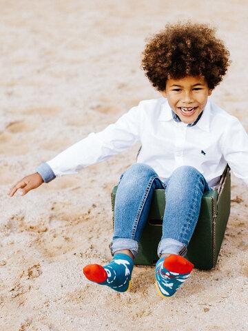 Tip na dárek Veselé dětské kotníkové ponožky Letadla